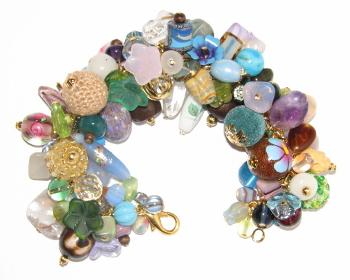 Julia Bristow Beaded Bracelet :  quality crystal one-of-a-kind collection