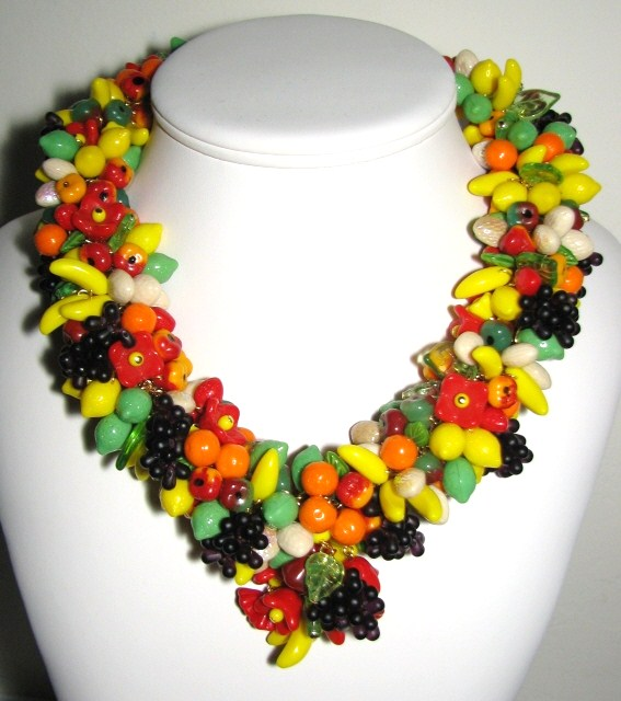 fruit jewelry my fruit necklace was worn today on the news 8654