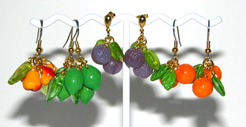 Julia Bristow Fruit Earrings