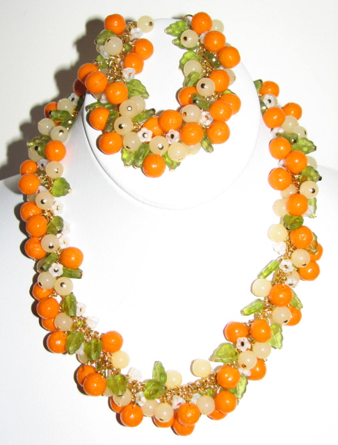 Julia Bristow Orange blossom Necklace