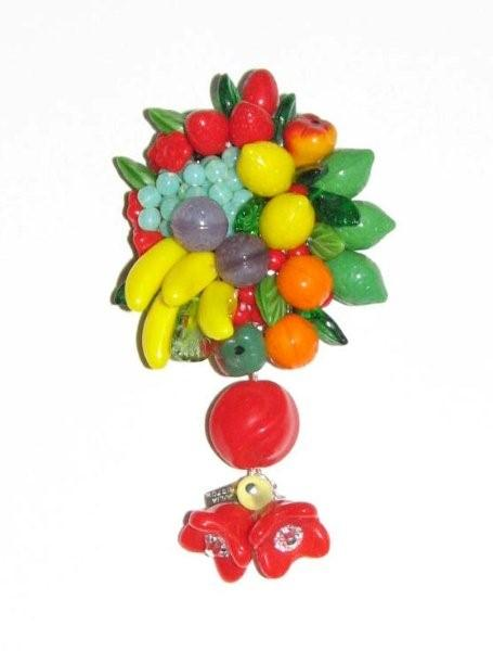 Julia Bristow Fruit Brooch