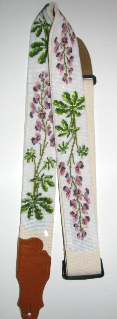 Julia Bristow Lupine Flower Beaded Guitar Strap