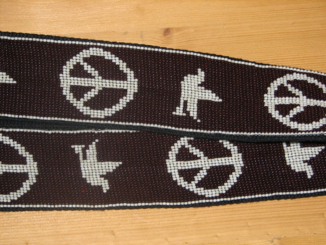Julia Bristow Beaded Neil Young Replica Guitar Strap