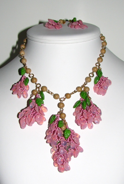 Julia Bristow Wisteria Handwoven Necklace/Earrings