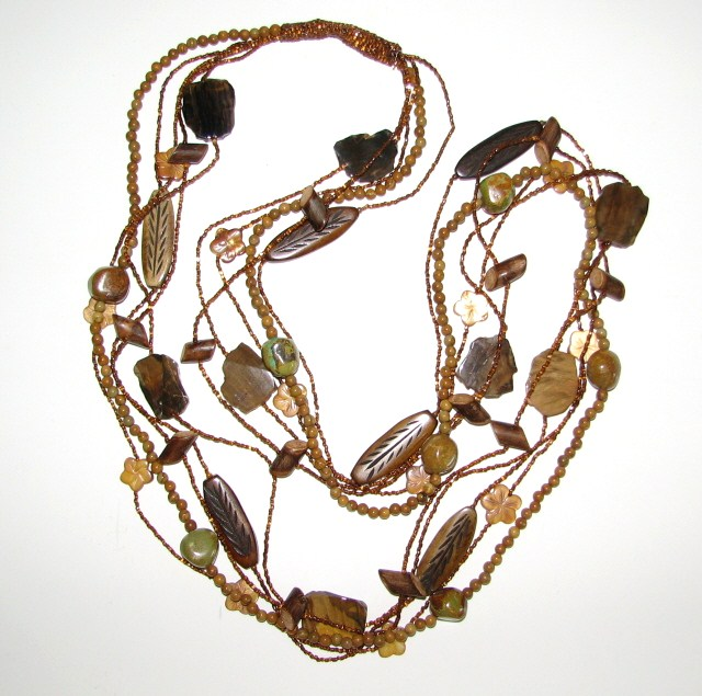 Julia Bristow Pine Forest Necklace :  necklace beading crafted handcrafted