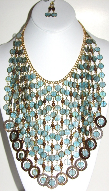 Window glass bib necklace Julia Bristow