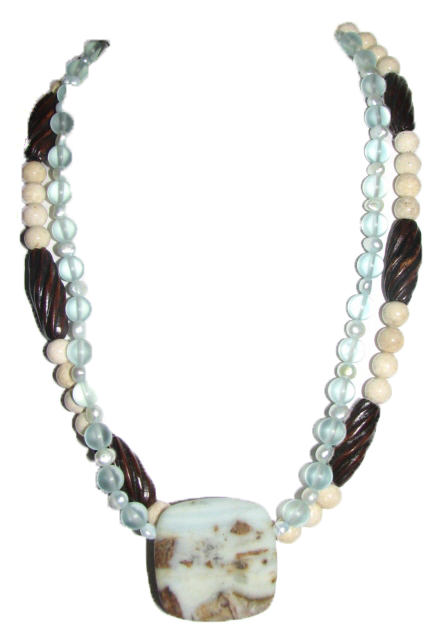 Julia Bristow ocean picture jasper necklace