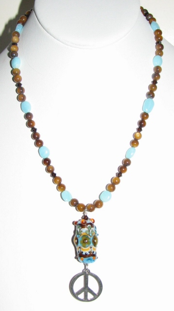 Julia Bristow - Cornelia Lentze Peace necklace :  discount crystal beadwork accessories