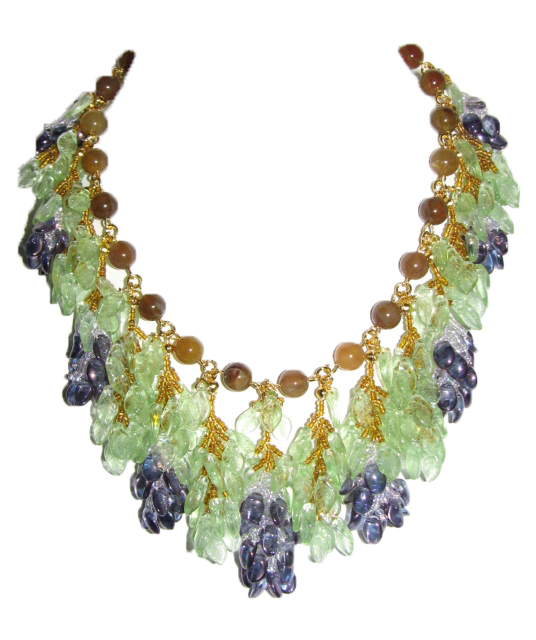 Julia Bristow handwoven wisteria vine necklace :  discount jewelery beadwork accessories