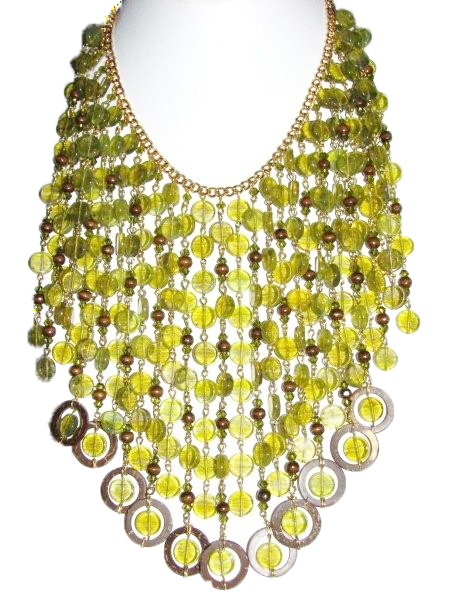 Julia Bristow bib necklace :  juliabristow signed crafted costume