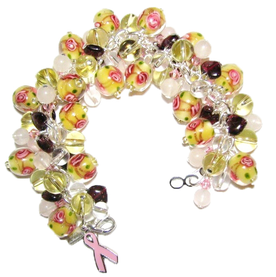 Julia Bristow Jewelry - Breast Cancer Awareness Jewelry :  gemstone crafted signed handcrafted