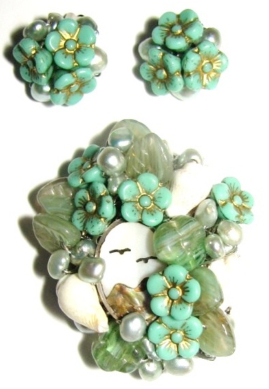 Julia Bristow Seashore Brooch Earrings Set