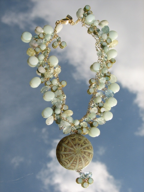Nature's Presence by Julia Bristow Necklace #3 :  juliabristowjewelry vintage-style crystal beadwork