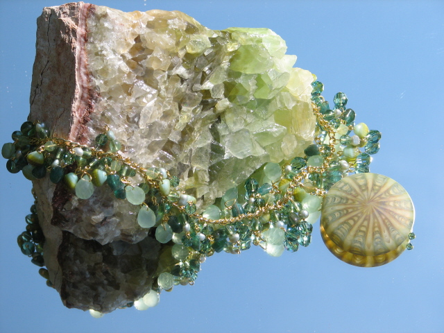 Nature's Presence by Julia Bristow Necklace #7 :  juliabristowjewelry vintage-style crystal beadwork