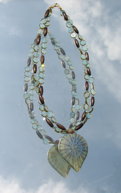 Nature's Presence by Julia Bristow Necklace #9 :  juliabristowjewelry signed crafted beading