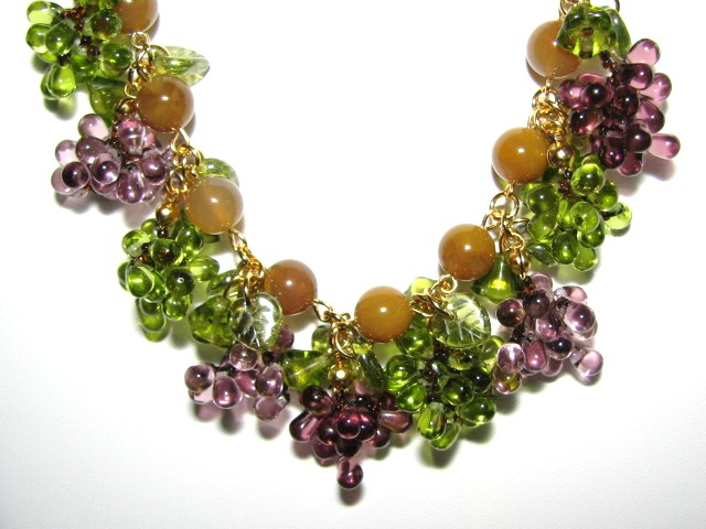 Julia Bristow Fruit Jewelry - Grape Necklace