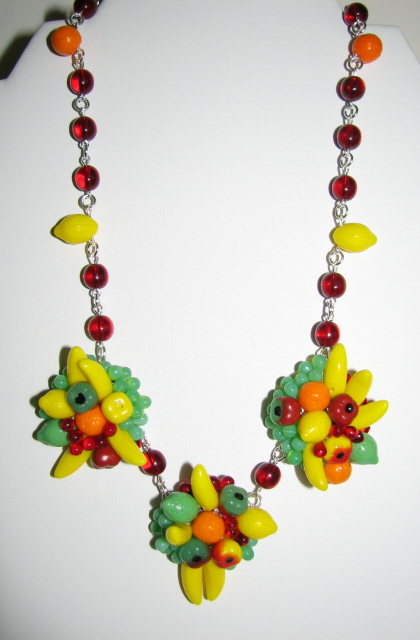 Julia Bristow Fruit Jewelry - Fruit Necklace :  necklace fruit crafted handcrafted